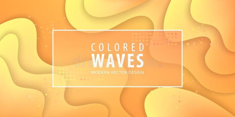 O inclinação fluido dá forma à composição Projeto líquido do fundo da cor Cartazes do projeto Ilustração do vetor ilustração do vetor