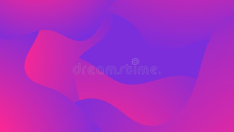 O inclinação líquido dá forma ao fundo abstrato Líquido colorido na moda Projeto futurista Vetor ilustração stock
