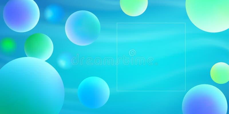 O inclinação líquido na moda da cor dá forma à composição ilustração do vetor