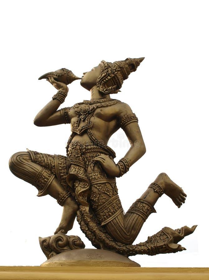 O Indra funde o conch foto de stock