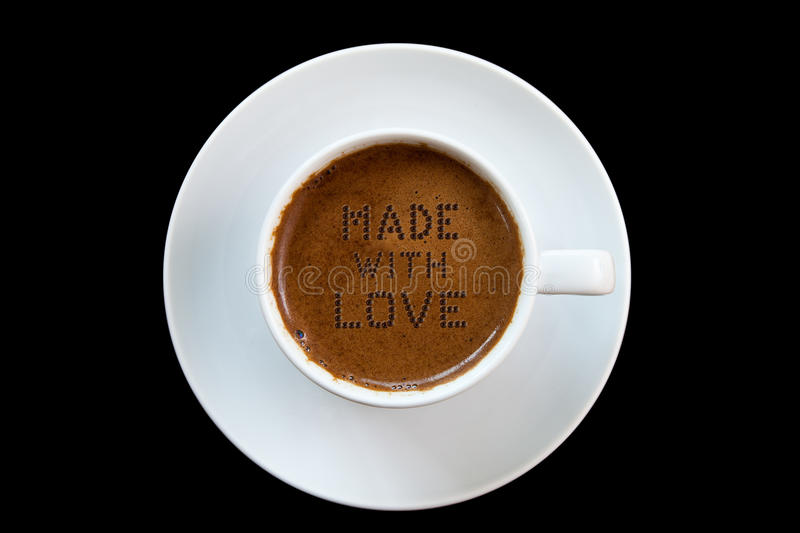 O ingrediente secreto do café grego é amor imagem de stock royalty free