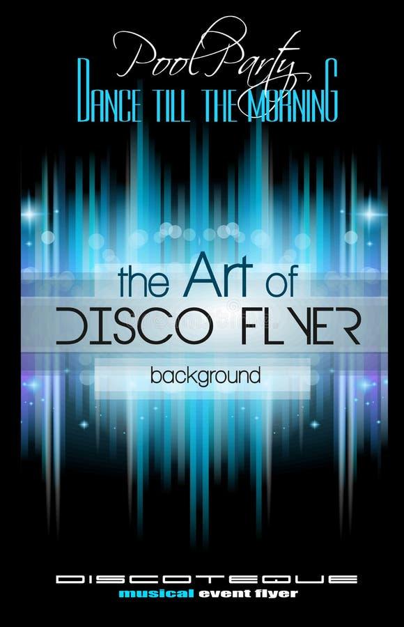 O inseto do disco do clube ajustou-se com elementos e espaço da música para o texto ilustração royalty free