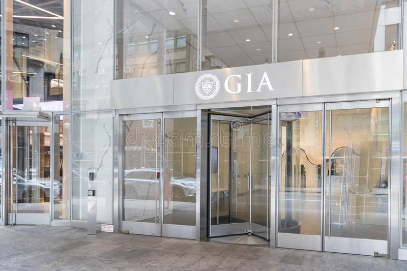 O instituto de Gemological do laboratório do GIA de América em New York imagens de stock royalty free