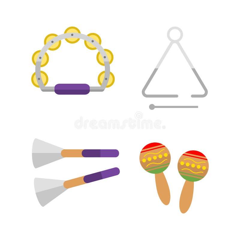 O instrumento de percussão sadio musical do maraca mexicano e a melodia do ritmo do divertimento objetam a celebração criativa do ilustração stock