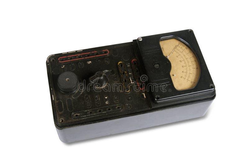 O instrumento que mede retro elétrico imagens de stock royalty free