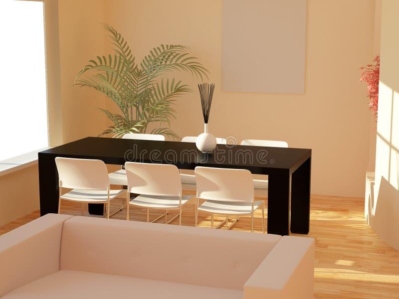 Download O Interior Ajustou Dois Cem Quinze Ilustração Stock - Ilustração de apartamento, tabela: 10054622
