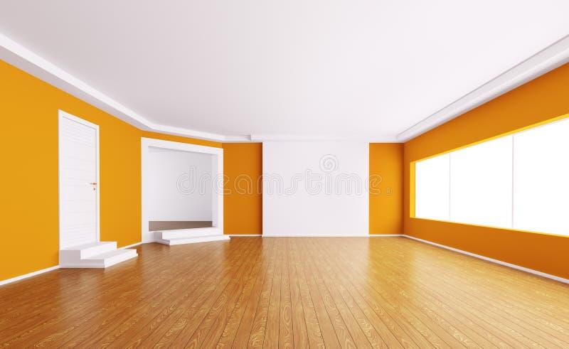 Interior vazio 3d ilustração stock