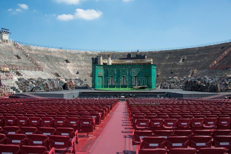 O interior de di Verona da arena, Itália imagem de stock royalty free