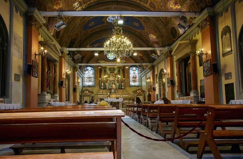 O interior de Saint Mary Draperis Church, Istambul imagem de stock royalty free