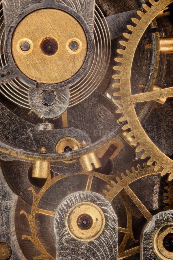 O interior de um relógio de bolso foto de stock