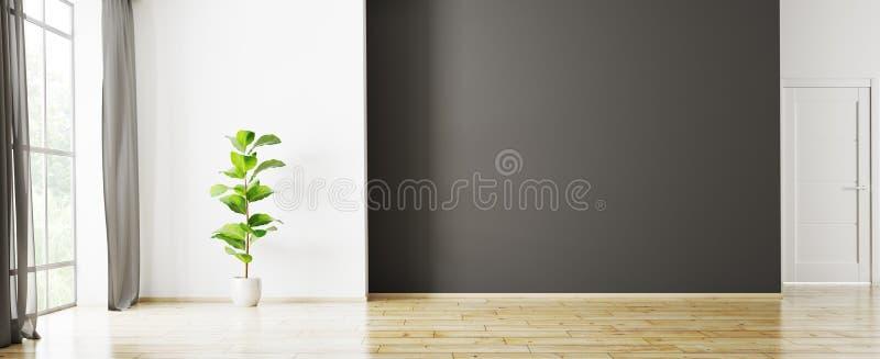 O interior do apartamento vazio 3d rende ilustração stock