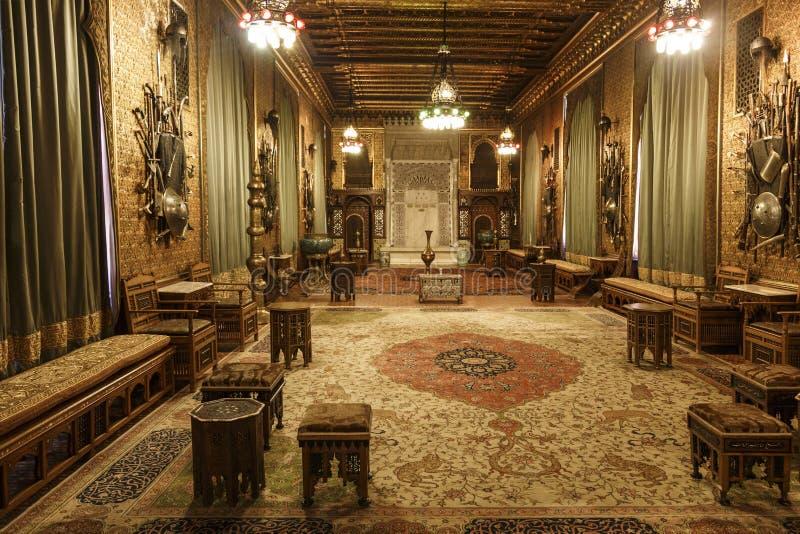 O interior do castelo de Peles em Sinaia, Romênia fotos de stock royalty free