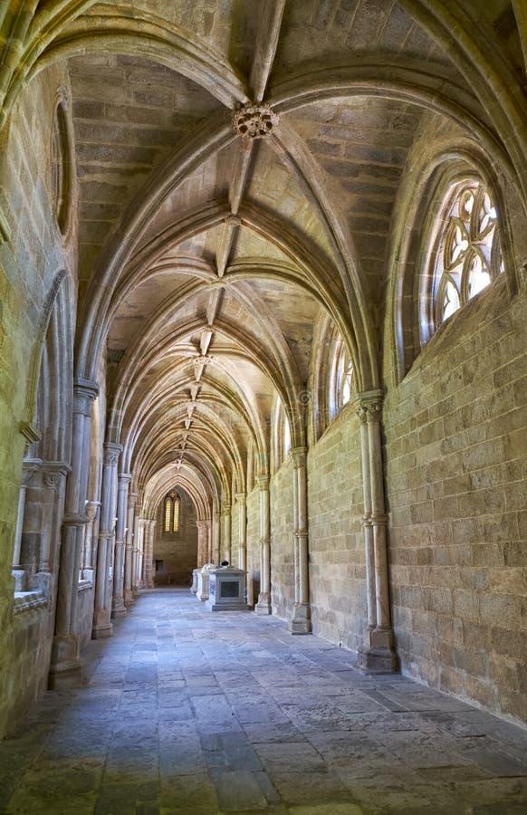 O interior do claustro do SE da catedral de Évora portugal imagem de stock royalty free