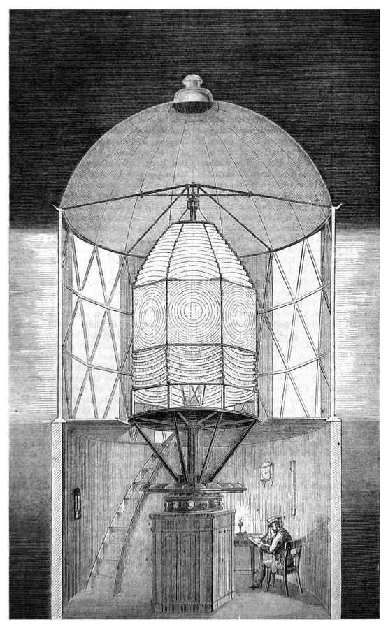O interior do farol ilustração do vetor