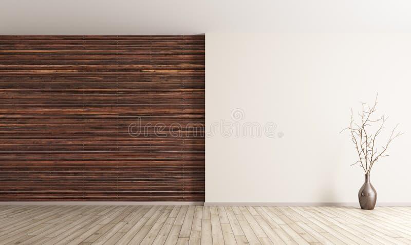 O interior do fundo vazio 3d da sala rende ilustração do vetor