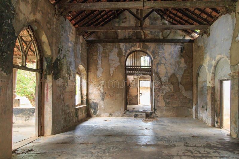 O interior do Mantri Manai ou Manthiri Manai - Jaffna - Sri Lanka imagens de stock royalty free