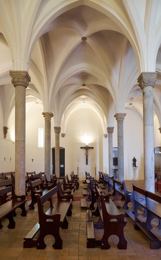 O interior do matriz de Igreja da igreja paroquial de Mertola Merto imagens de stock royalty free