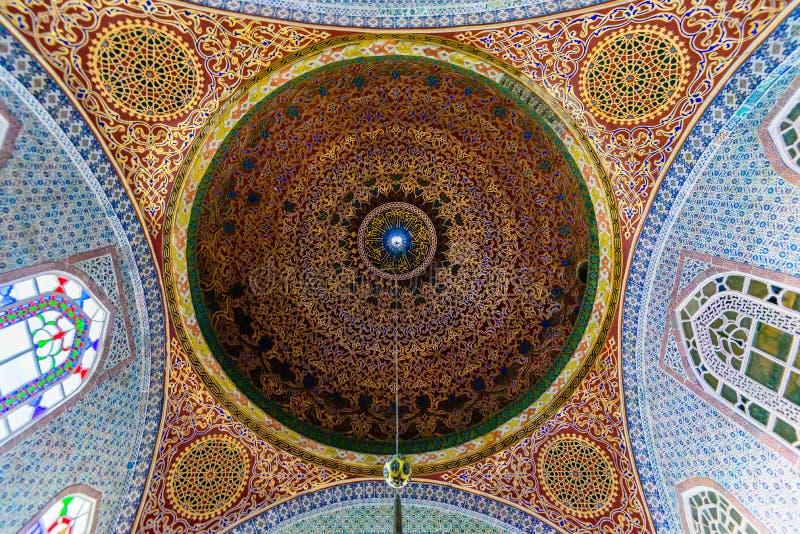 O interior do palácio de Topkapi fotografia de stock