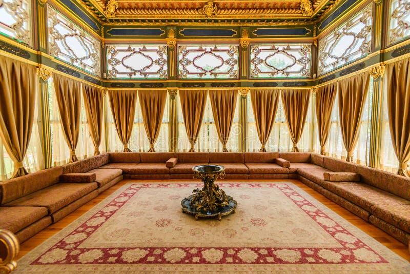 O interior do palácio de Topkapi imagens de stock royalty free