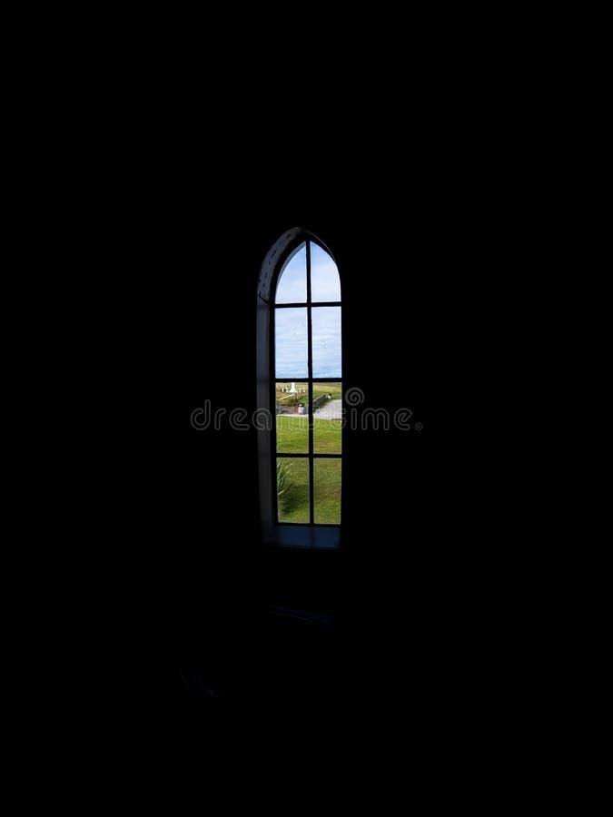 O interior italiano da capela Religião, Orkney imagens de stock