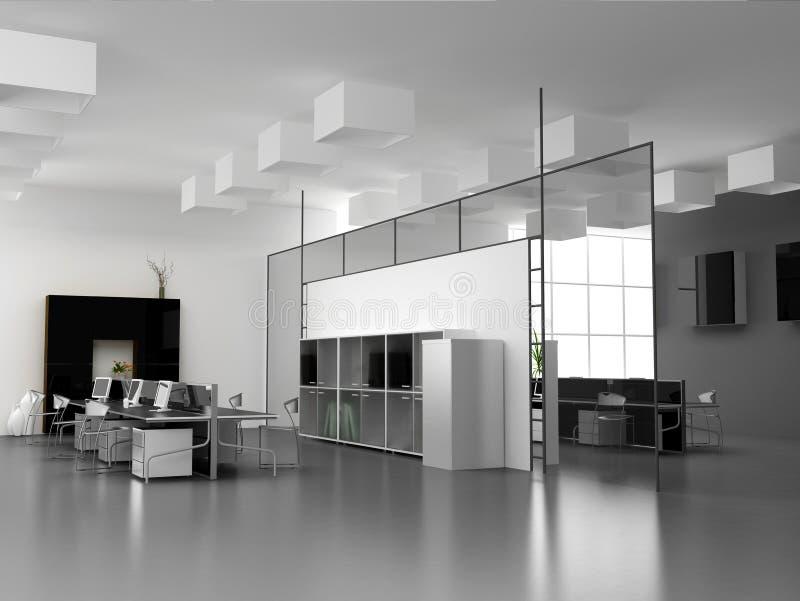 O interior moderno do escritório ilustração do vetor