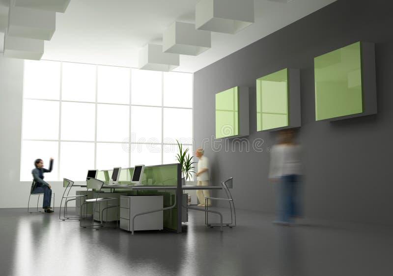 O interior moderno do escritório