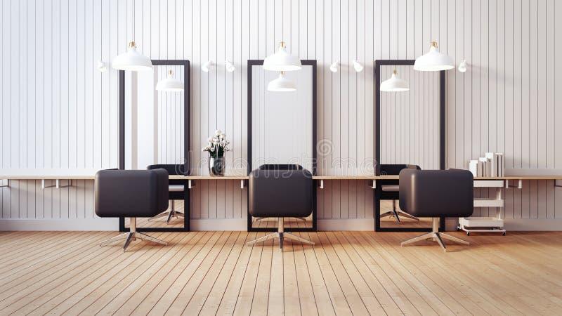 O interior moderno do salão de beleza/3D rende a imagem ilustração do vetor