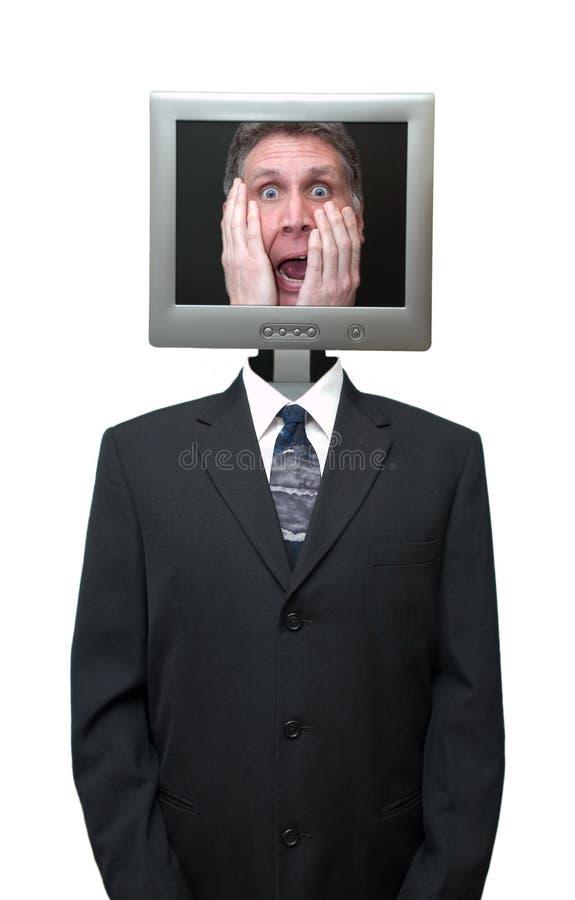 O Internet do negócio de Technolgy do computador isolou-se foto de stock royalty free