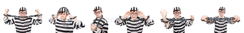 O interno engraçado da prisão no conceito foto de stock royalty free