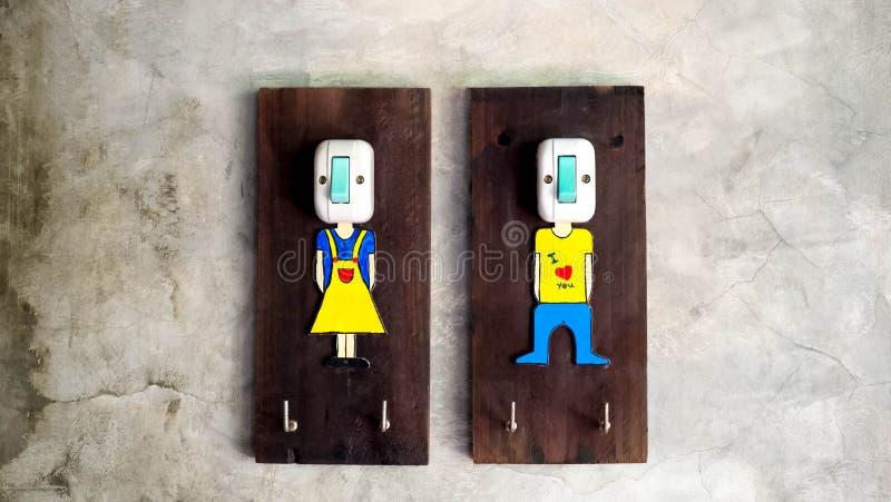 O interruptor para girar -fora nas luzes fotos de stock royalty free