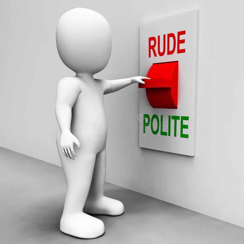 O interruptor polido rude significa boas maneiras más ilustração do vetor