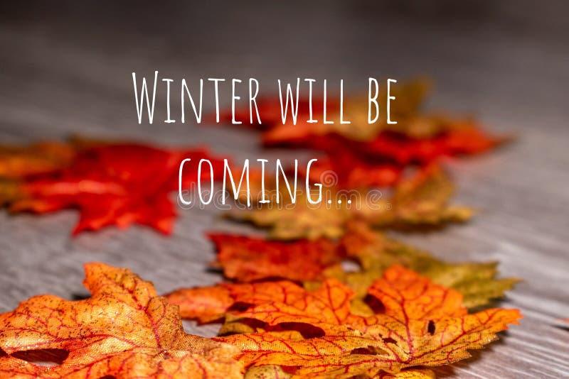 O inverno estará vindo fotografia de stock