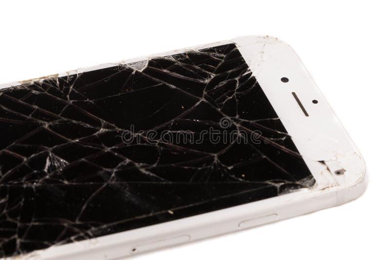 O iPhone quebrado 6S tornou-se pela empresa Apple Inc fotos de stock