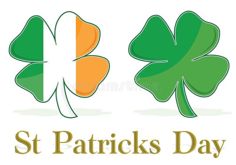 O Irish folheia bandeira do trevo ilustração do vetor