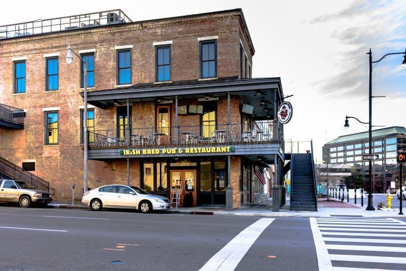 O irlandês produziu o bar Montgomery imagem de stock