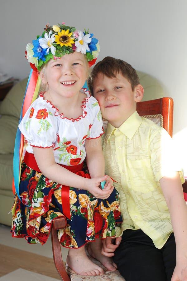 O irmão e a irmã foto de stock