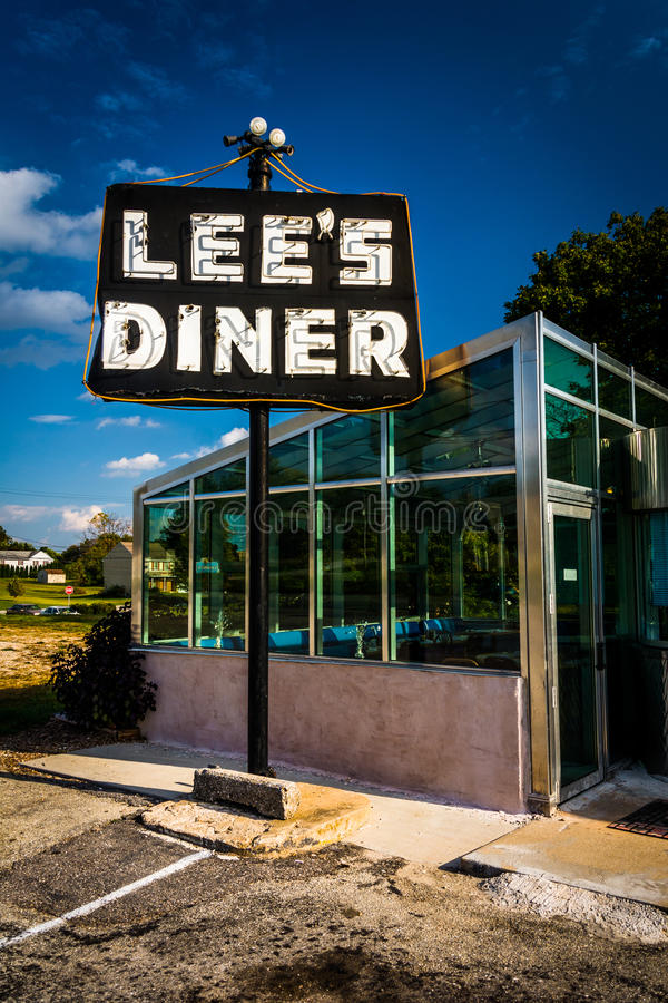 O jantar do Lee, ao longo de Lincoln Highway perto de Thomasville, Pennsylvani imagens de stock royalty free