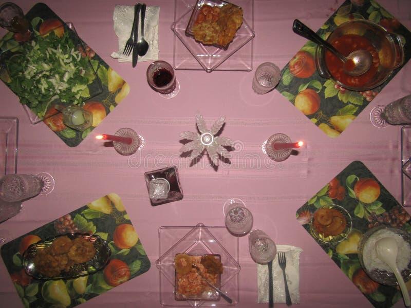 O jantar está pronto imagem de stock