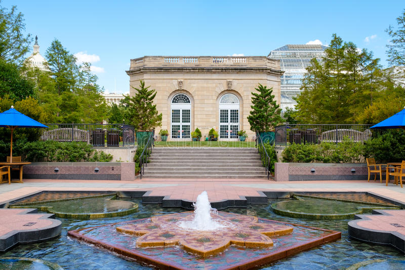 O jardim botânico do Estados Unidos em Washington D C imagens de stock royalty free