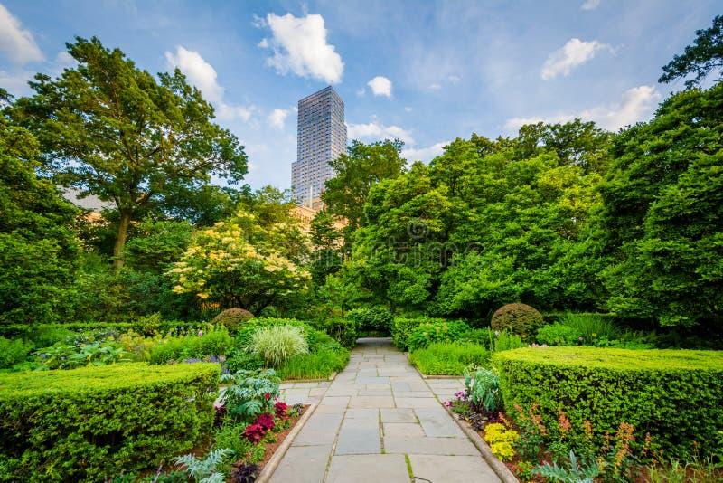 O jardim conservador no Central Park, Manhattan, New York City fotos de stock