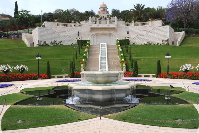 O jardim de Bahai imagens de stock royalty free