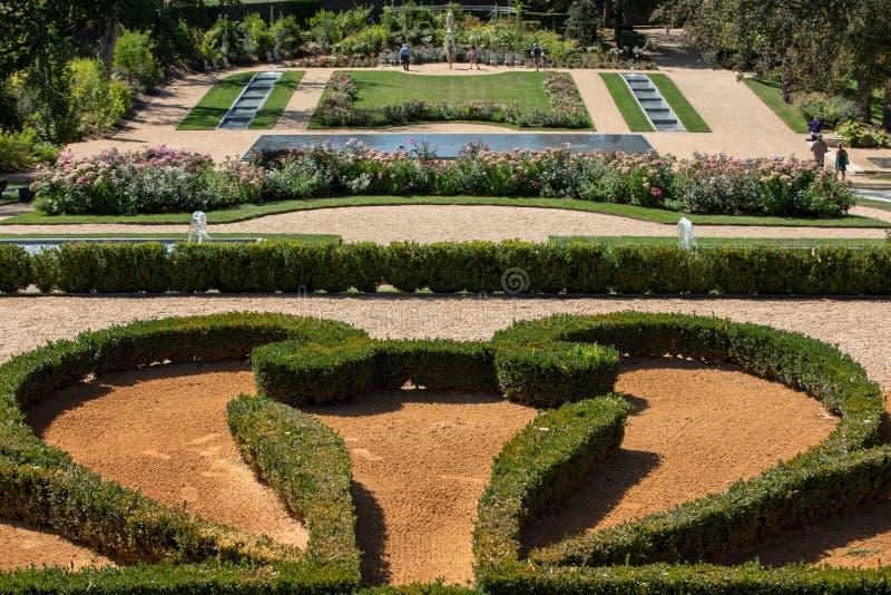 o jardim de DES Milandes do castelo imagem de stock