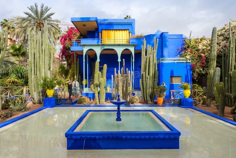 O jardim de Majorelle imagens de stock royalty free
