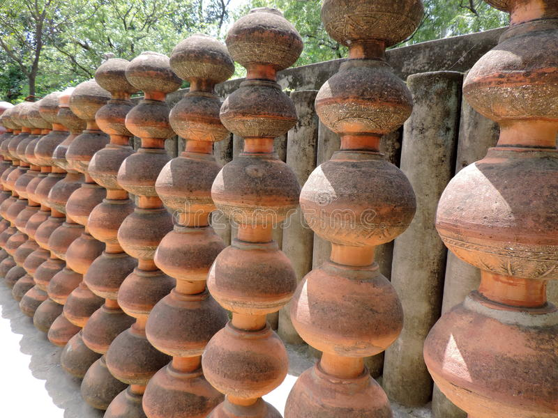 O jardim de rocha de Chandigarh, Índia foto de stock royalty free