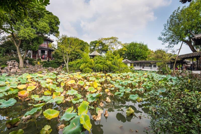 O jardim do administrador humilde - Suzhou, China fotografia de stock royalty free