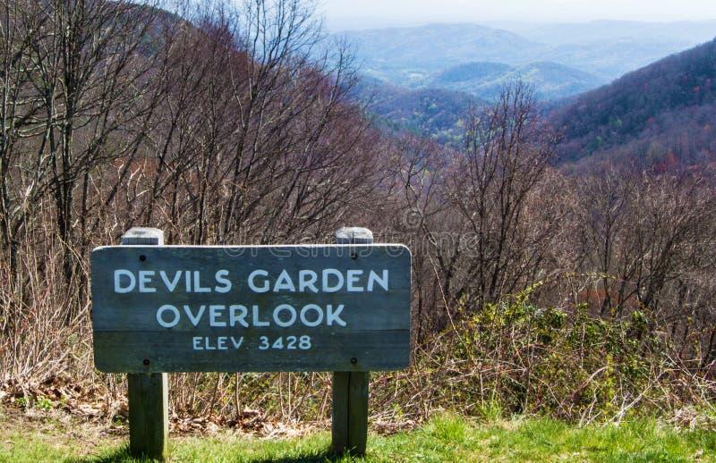 """O jardim dos diabos negligencia elevação do †""""3428 pés fotos de stock royalty free"""