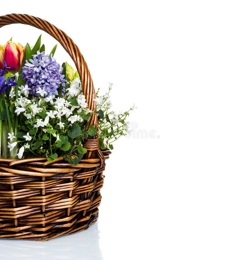 Download Flores do jardim na cesta imagem de stock. Imagem de nave - 29830441
