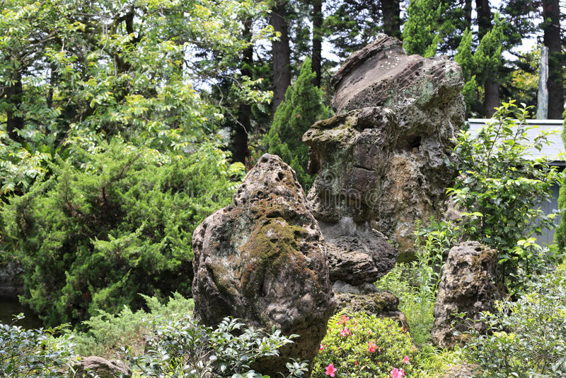 O jardim ornamental na manda-chuva imagem de stock royalty free