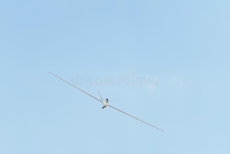 O jato pôs o modelo de RC do planador, saiplane imagem de stock
