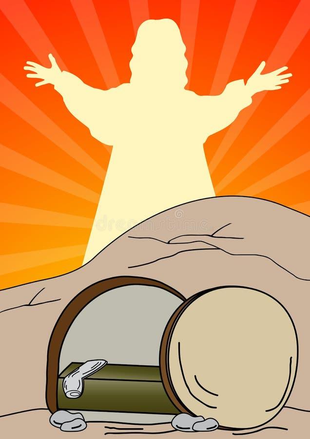 O Jesus Cristo é aumentado ilustração stock
